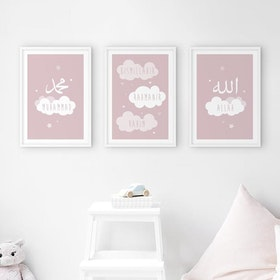 Cloud Set Pink Poster