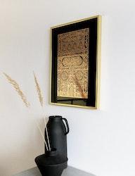 Kaaba dörr i guldfolie svart inramad