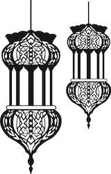 Orientaliska lyktor väggdekoration