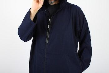 Marockansk Fleece Jalaba | Mörkblå