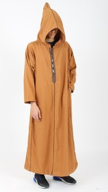 Marockansk Fleece Jalaba   Camel