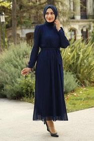 Ahlam Klänning Marinblå
