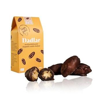 Mörk choklad och jordnötssmör dadlar