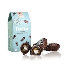 Ljus choklad och kokos dadlar