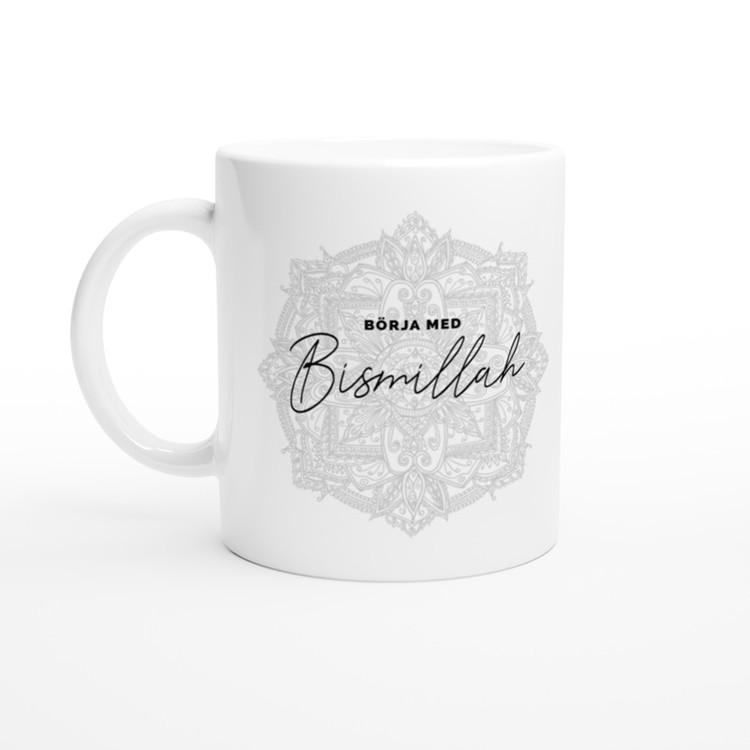 Bismillah mugg grå svenska