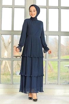 Zilha Klänning Mörkblå