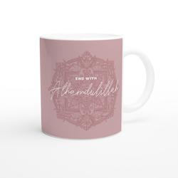 Bismillah mug pink english