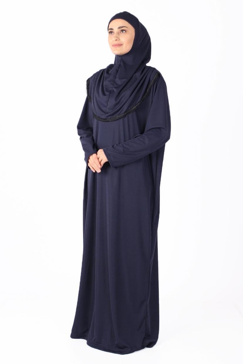 Gulsum Marinblå med Trim Bönekläder