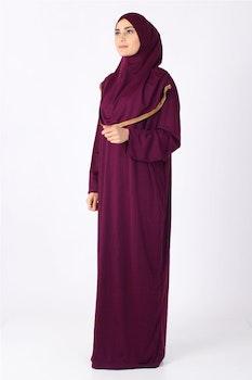 Gulsum Fucia med Guld Trim Bönekläder