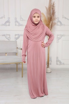 Nour abaya med hijab | Rosa