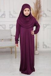 Nour abaya med hijab | Lila