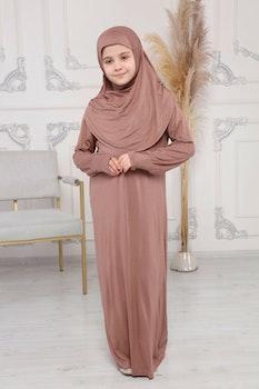 Nour abaya med hijab | Karamell