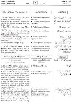 The Noble Quran Transliteration