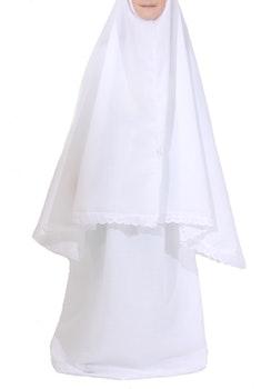 Vit bönekläder med spets | Flickor