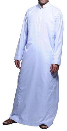 Saudi Klassisk Thobe Vit