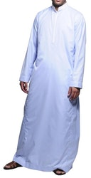 Saudi Klassisk Thobe Svart/Vit
