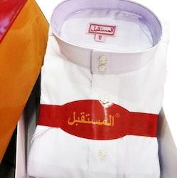 Saudi Klassisk Thobe Vit/Svart