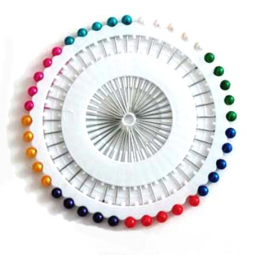 Roundhead  Nålar Multifärgade  40st