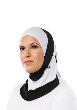 Fitness Sport Hijab Svart/Vit