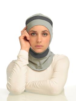 Runner Grå & Mörkgrå Sport Hijab