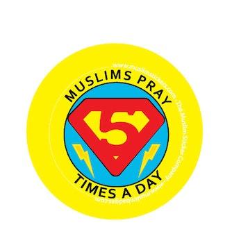 Muslims pray 5 times a day Knappnål