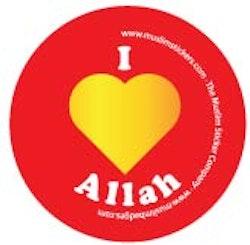 I Love Allah Röd Knappnål