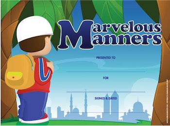 Marvellous Manners Certificate