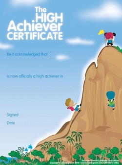 High Achievers Certificate