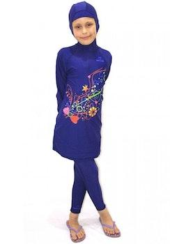 Burkini Tunika Flickor Blå