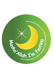 Mashallah I'm fasting Grön Knappnål