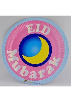 Eid Mubarak Plasttallrikar (10st)
