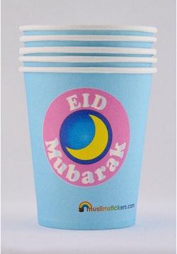 Eid Mubarak Plastmuggar (10st)