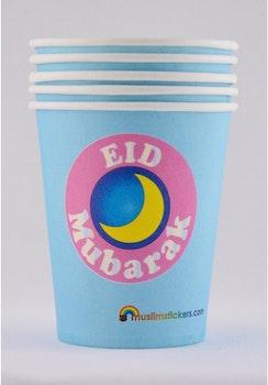 Eid Mubarak Pappersmuggar 5st
