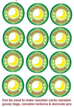 Ramadan Kareem Klistermärken