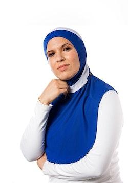 Runner XL Blå & Vit Sport Hijab