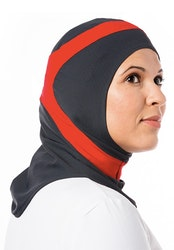 Runner Mörkgrå & Röd Sport Hijab