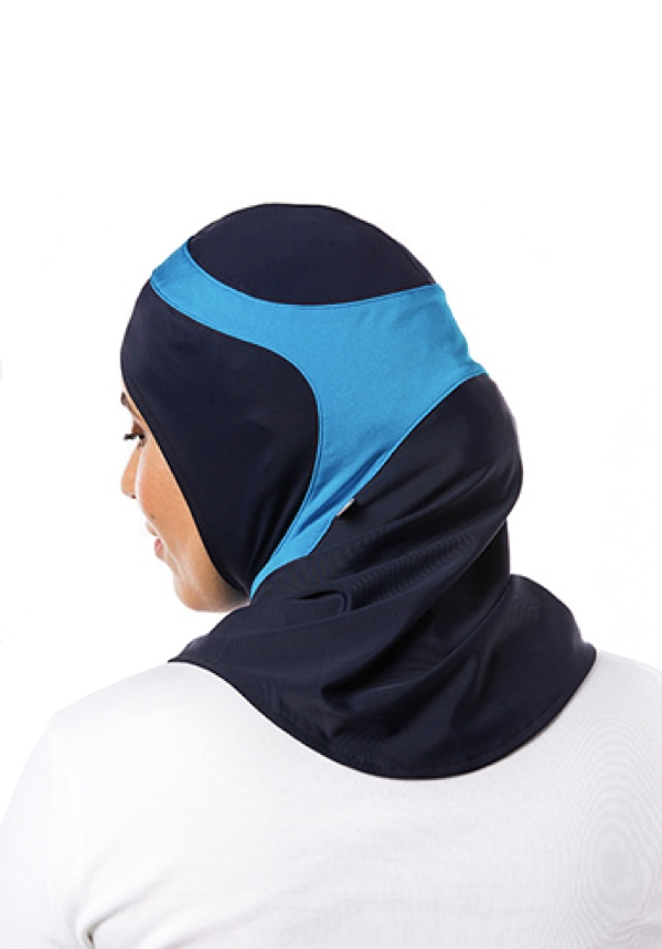 Swim Marinblå & Aqua Sport Hijab
