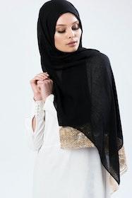 Marwa Glitter Sjal Svart