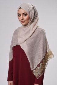 Marwa Glitter Sjal Beige/Sand