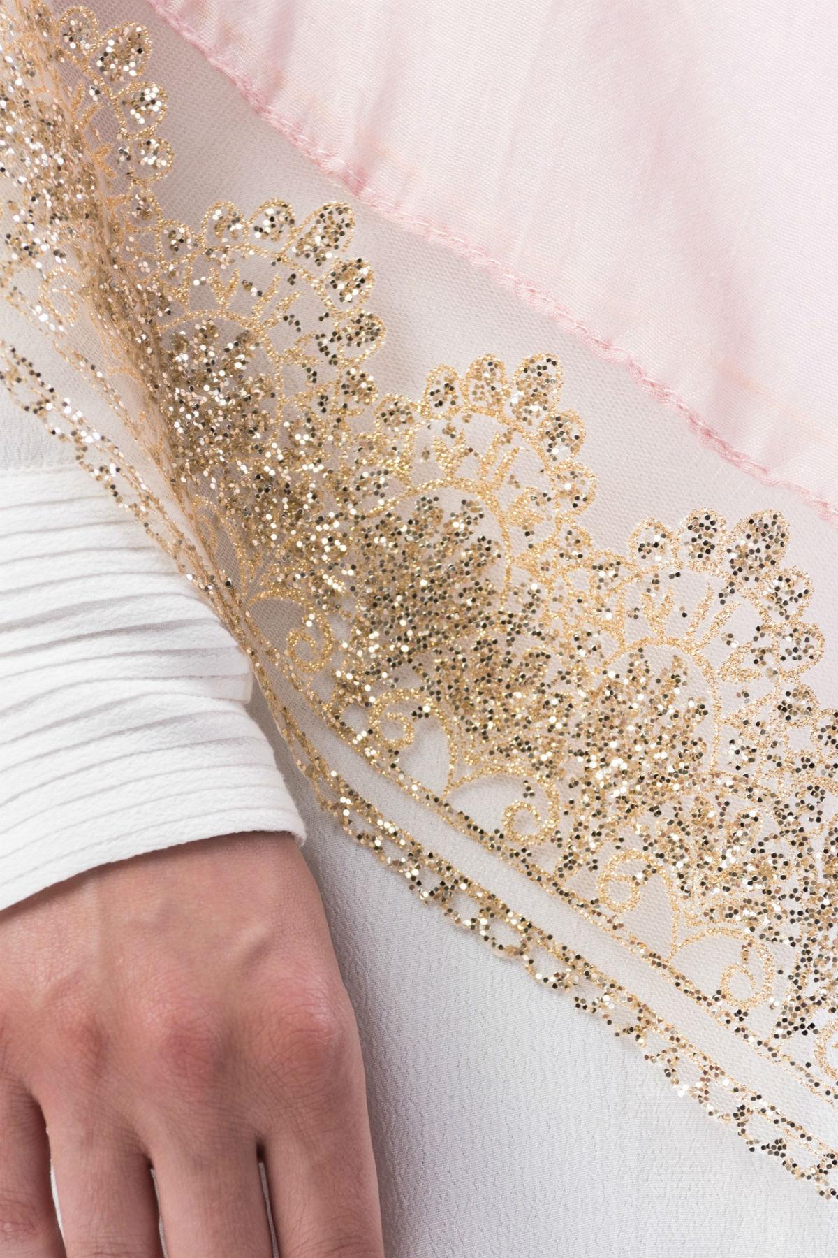 Marwa Glitter Sjal Rosa