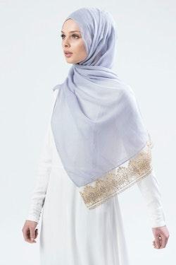 Marwa Glitter Sjal Ljusgrå