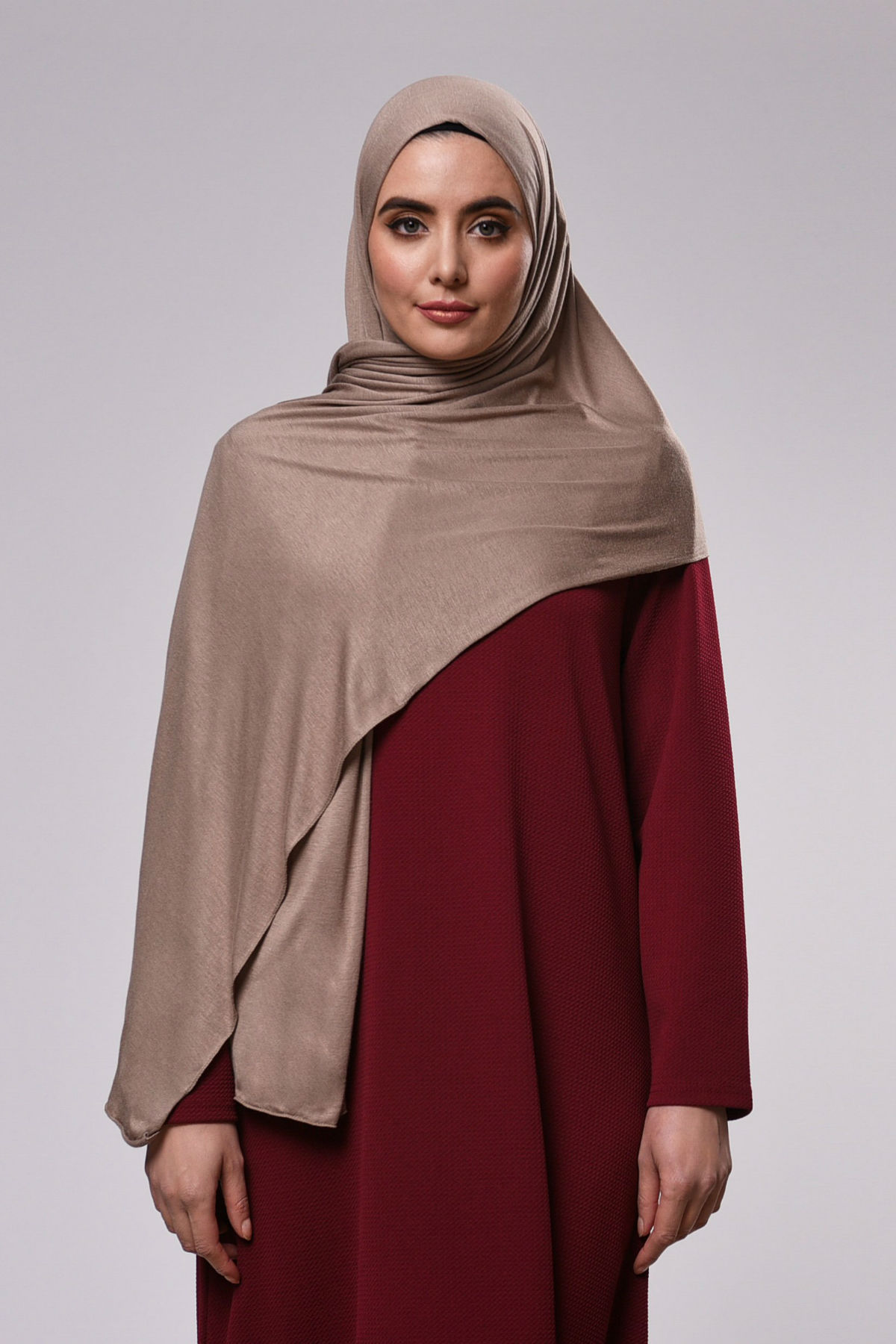 Saba Maxi Sjal - Tan Brown