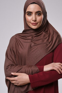 Saba Maxi Sjal - Chocolate Brown