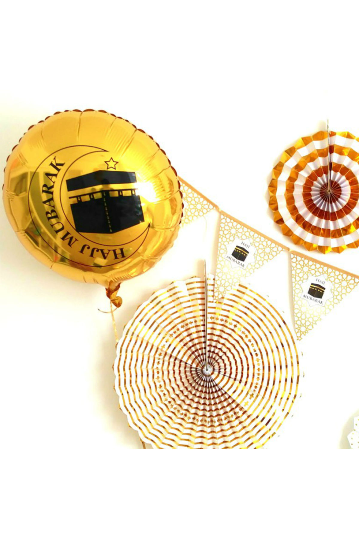 Hajj Mubarak Folieballong Guld