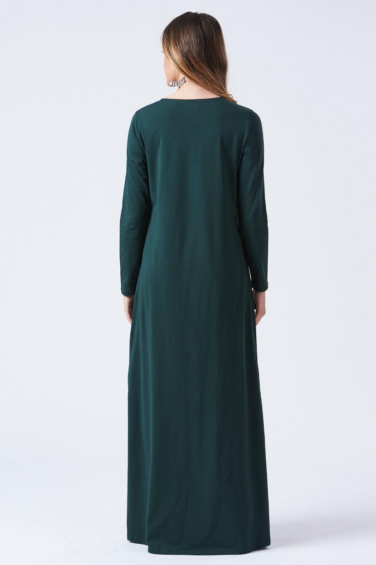 Sara Maxi Klänning Mörk Grön