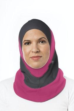Fitness Sport Hijab Grå/Rosa