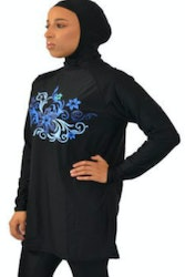Sea Blue Burkini Tunika Utan Luva