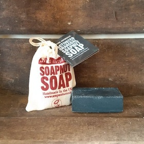 Living Naturally Activated Charcoal soapnut soap 90g