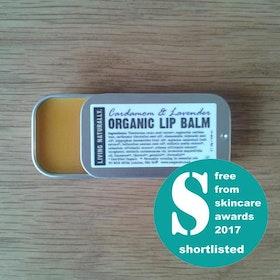 Living Naturallys Organic Lip Balm - Cardamom & Lavender i retroask - 13 g