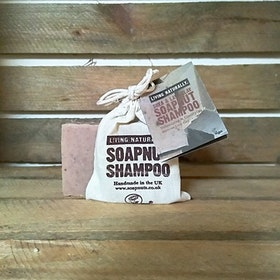 SHEA LAVA CLAY SOAPNUT SHAMPOO BAR - COCONUT OIL FREE - 90g